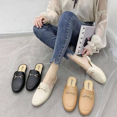 Giày mọi Da mềm đế thấp kiểu dáng đơn giản cho nữ .