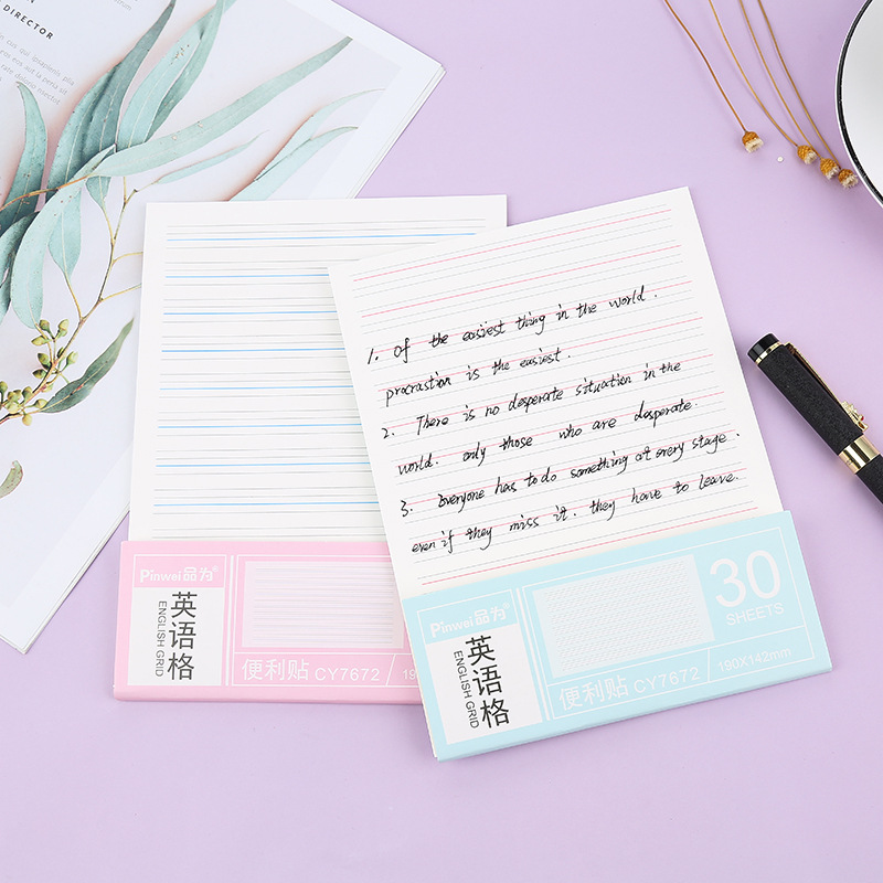 English post-it notes, corrections, corrections, dictation, dictation, English free stickers, 30 pag