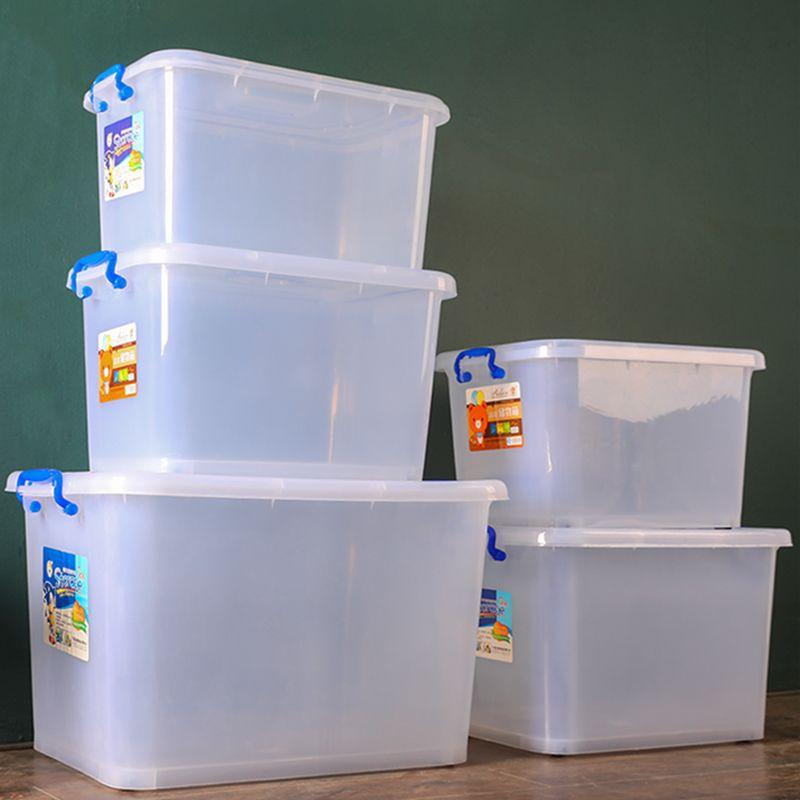 Transparent box plastic thickened transparent storage box factory wholesale clothing quilt storage b