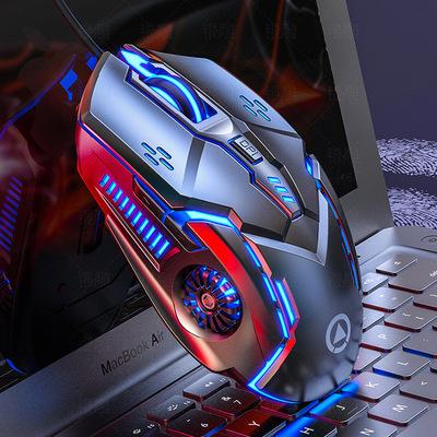 YINDIAO Chuột vi tính Chuột có dây Silver Eagle G5 phát sáng máy chơi game chơi game tắt tiếng phụ k