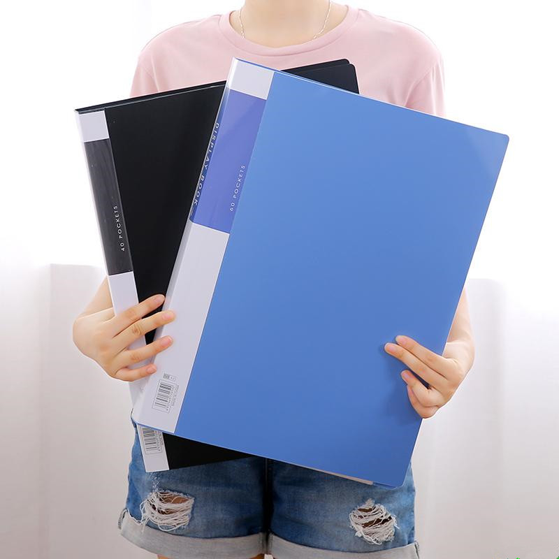 Xinbihe A3 Information Booklet 8 Open Color 40 Pages 8K Art Works Picture Book 60 Pages A3 Folder In