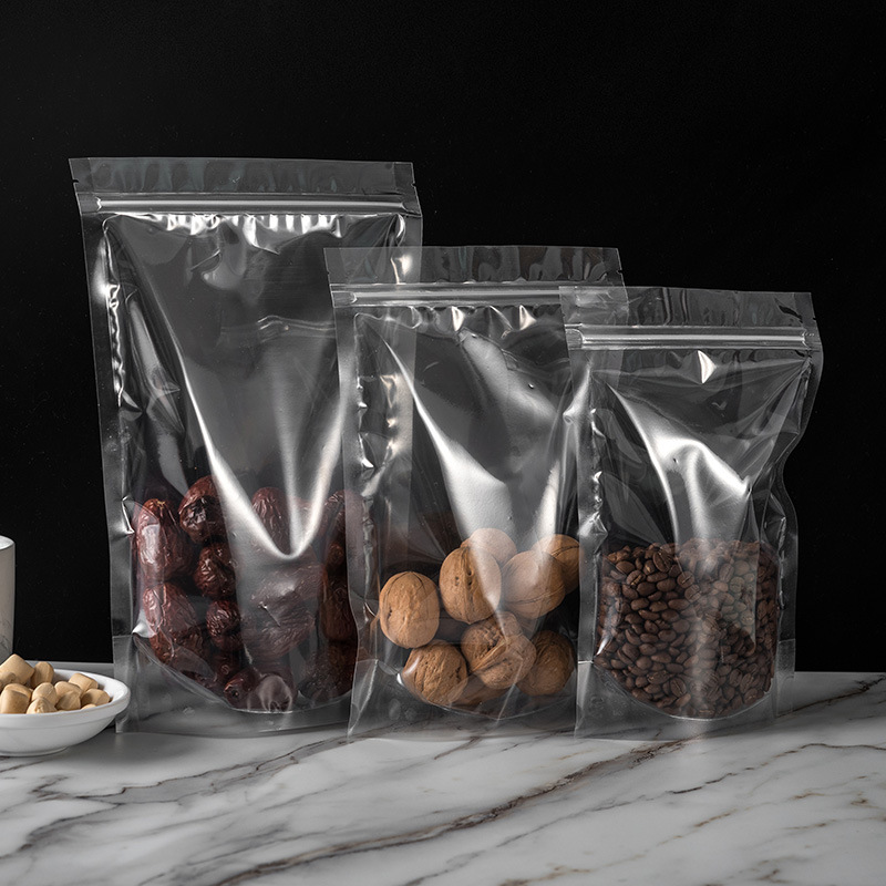 Ziplock bag thickened transparent packaging bag wholesale dried fruit food stand-up bag herbal tea s