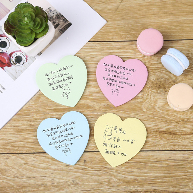 Color N times stickers creative note paper love takeaway praise sticky notes easy to tear advertisin