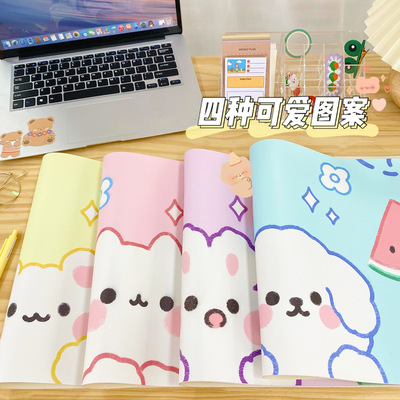 ZHANMU Thảm lót chuột Yilan trong tấm lót chuột gió phim hoạt hình cô gái trái tim siêu lớn tấm lót