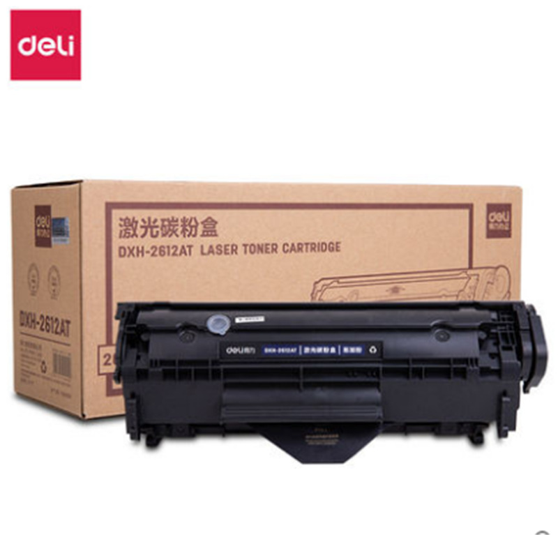 DELI Powerful Laser Printer Toner Cartridge 2612AT is suitable for HP1020/3020 Canon 2900+ models