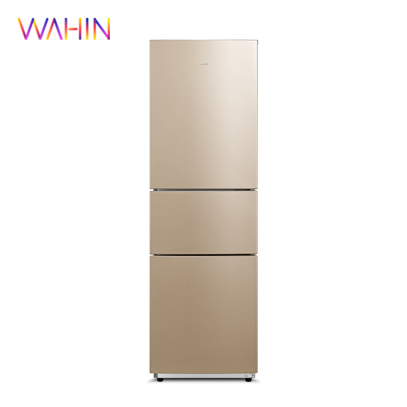 Hualing BCD-218TH three-door refrigerator 218 liters fast frozen storage household dormitory rental