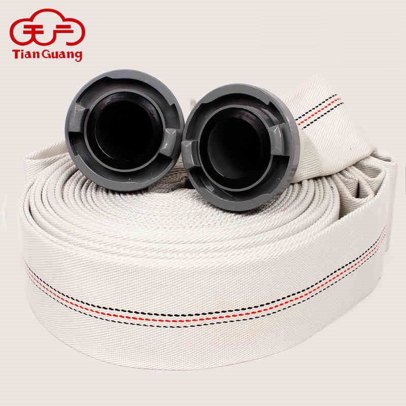 Tianguang Fire Fighting Equipment Plastic PVC Lining 2 Inch 50 Interface 20 Meter Canvas Pipe Buckle