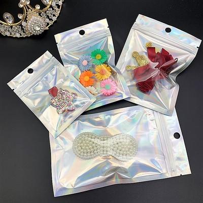 SHUNENJIN Túi đựng trang sức Có sẵn từ kho laser âm và dương túi ziplock màu huỳnh quang túi nhôm lá