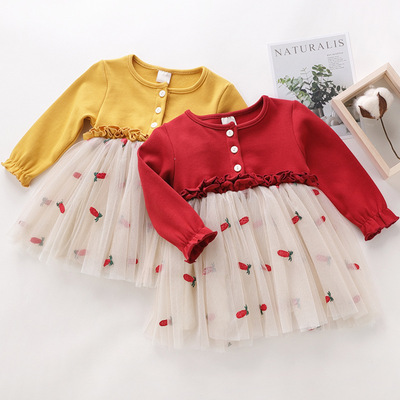 Quần áo trẻ em váy bé gái 2019 mùa xuân mới kiểu váy dễ thương Phiên bản Trung Quốc và Hàn Quốc của