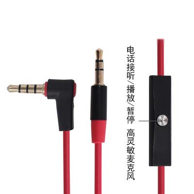 JIAHUIDA Tai nghe có dây Có micrô với cáp âm thanh nam 3.5mm tai nghe điện thoại di động đa năng AUX