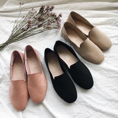 Giày mọi da lộn một lớp kiểu dáng thời trang .