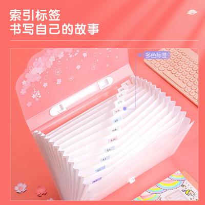 Deli Bìa tài liệu Deli 72543 túi đựng đàn organ cô gái dễ thương nhỏ tươi mới cặp đựng đồ học sinh n