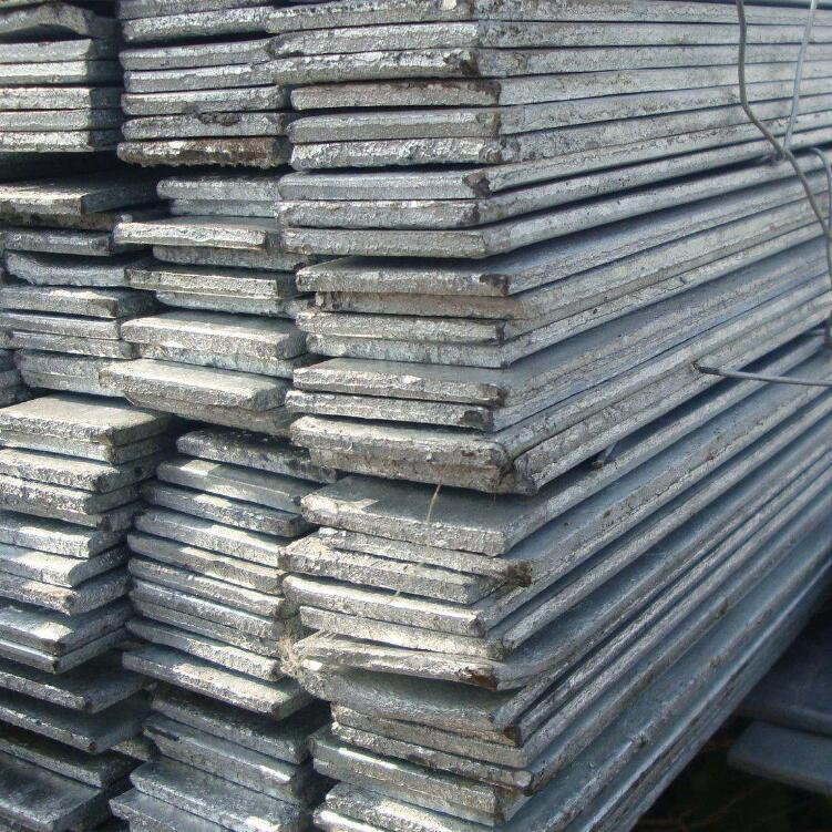 Black flat steel hot-rolled flat iron 5# 4# and other specifications hot-dip galvanized flat steel