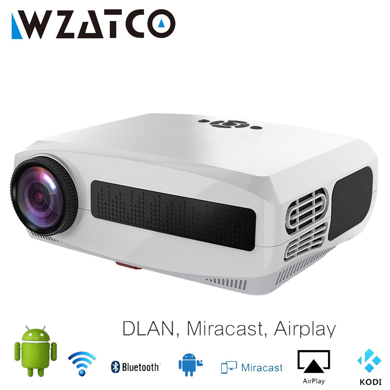 WZATCO C3 Smart Android 4D Correction Full HD 1080P Home Theater 4K Projector