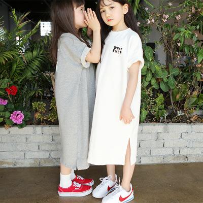 Váy cho bé gái mùa hè 2021 váy trẻ em ngắn tay váy hè phiên bản mới của Hàn Quốc váy đầm trẻ em cỡ l