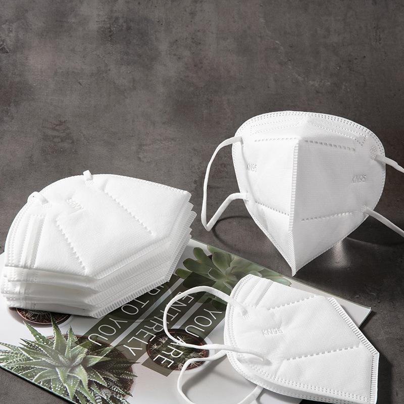 KN95 masks SGS masks FFP2 ce certification wholesale five-layer protective white mask KN95 FFP2