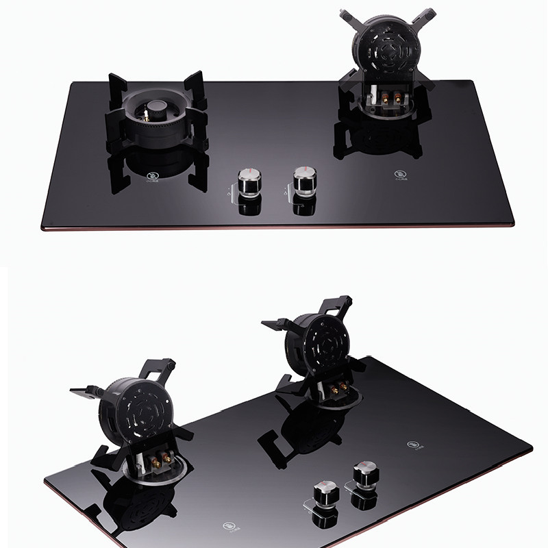 Net celebrity stove household gas stove natural gas liquefied gas stove desktop embedded dual-purpos