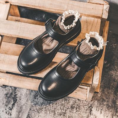 Giày da một lớp 2020 mùa thu mới Hepburn Mary Jane giày retro đồng phục Nhật Bản giày đơn jk phong c