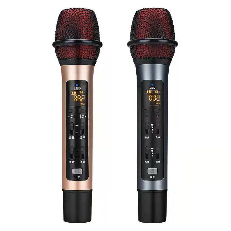 Car microphone FM car microphone wireless bluetooth microphone charging microphone national K song