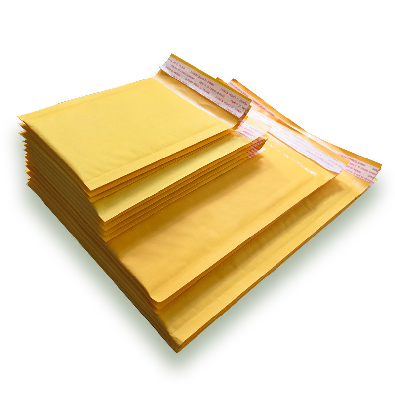 THOMBNAIL Thickened yellow kraft paper bubble envelope bag customized e-commerce pressure and shockp