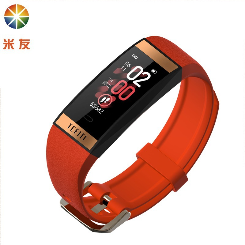 MISSYOU 0.96 color screen waterproof multi-sports bracelet heart rate and blood pressure detection