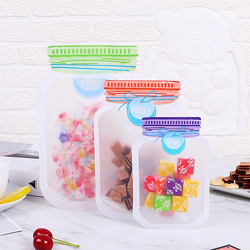 SHUANGQIANG Mason bottle ziplock bag transparent nut packaging bag stand-up pouch spot snack packagi