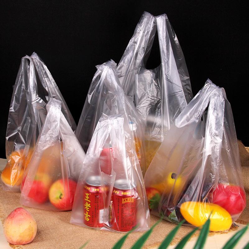 White transparent vest bag, food packaging bag, supermarket shopping convenience bag, vest bag, plas