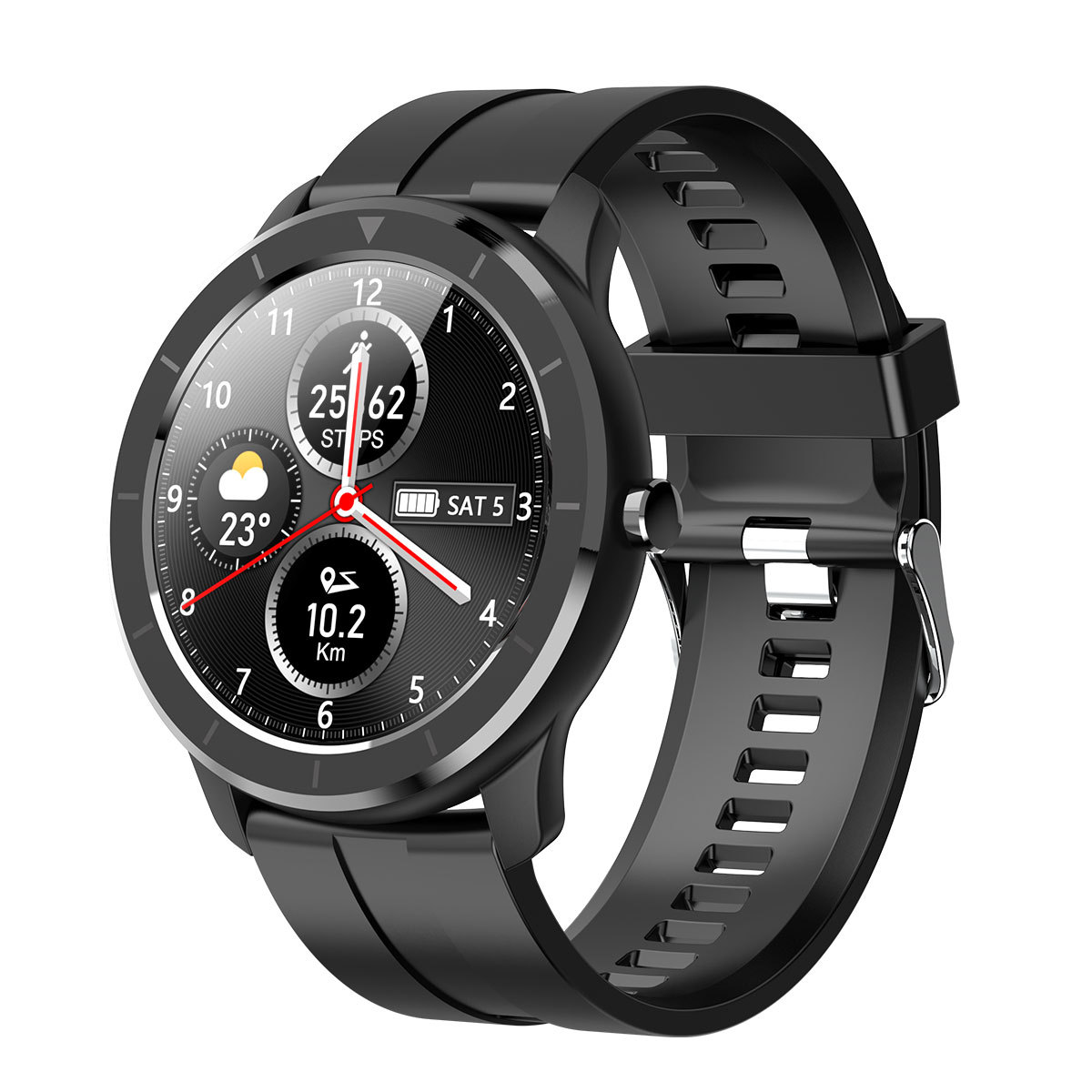 The new T6 smart watch WeChat message reminder heart rate sleep monitoring weather forecast multifun