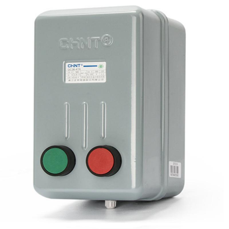 CHNT Zhengtai Magnetic Starter QC36-4TA electromagnetic starter with button motor starter 10TA20TA30