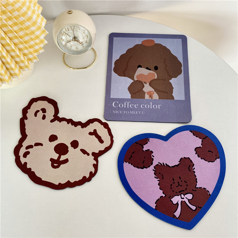 Japan and South Korea ins biscuit bear mouse pad couple student dormitory desktop mouse pad cute not
