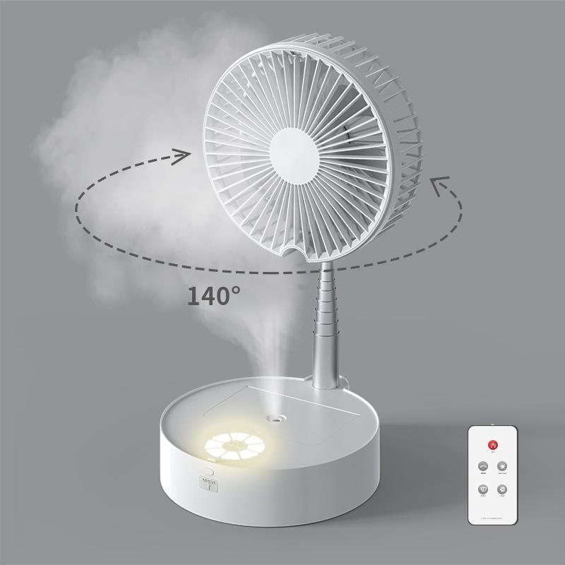 Retractable fan storage fan usb charging table floor foldable mini fan with pull rod portable