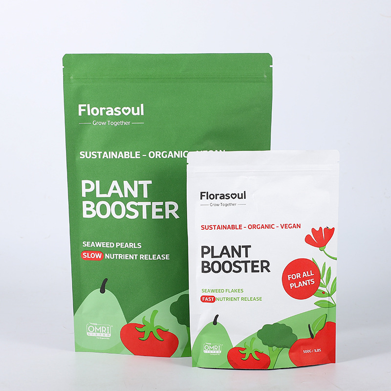 Biodegradable snacks, nuts, melon seeds, sealed tea bags, kraft paper self-sealing bags