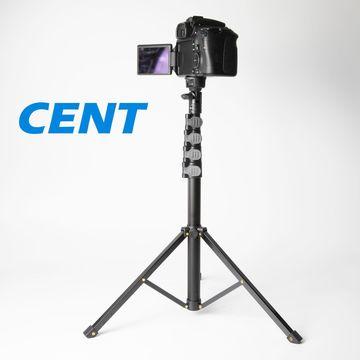 Gây tự sướng 1.6m hợp kim nhôm tấm chân sắt khóa đèn đứng chụp ảnh điện thoại di động hỗ trợ trực ti