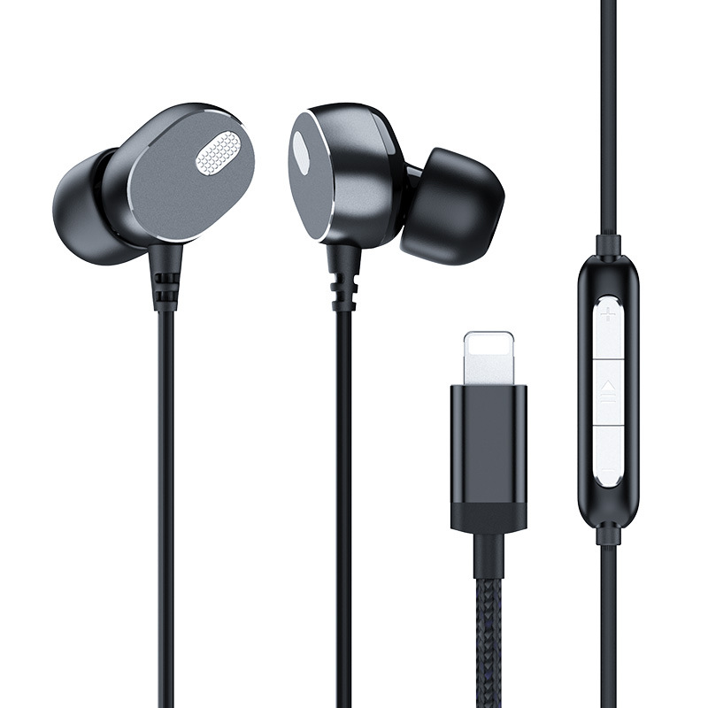 Suitable for Apple Xr max headset iPhone7/8s plus wire control original heavy bass mobile phone flat