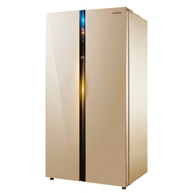 Midea BCD-521WKM(E) double door refrigerator air-cooled and frost-free slim body double door refrige