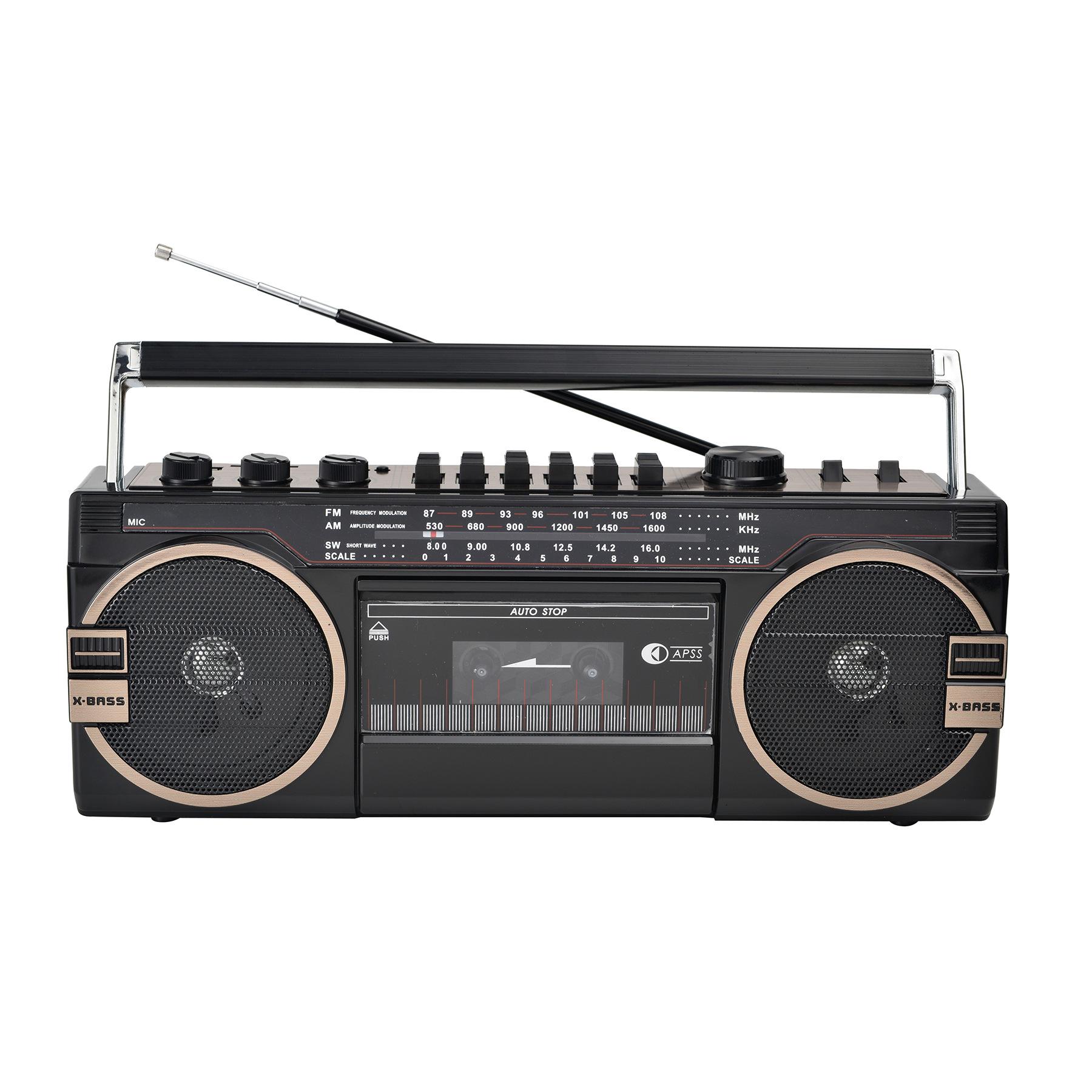 Cmik tape recorder old-fashioned 80s nostalgic retro portable radio cassette player tape recorder