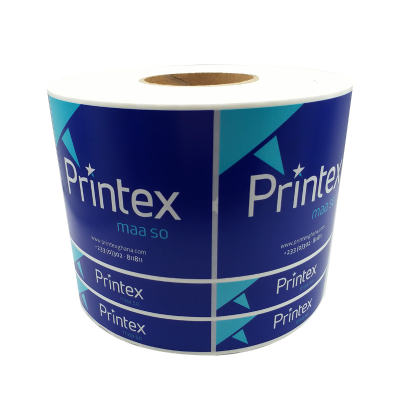 PVC Reel Stickers, Customized Color Advertising Labels, Food Labels, Packaging Printing, Trademark S