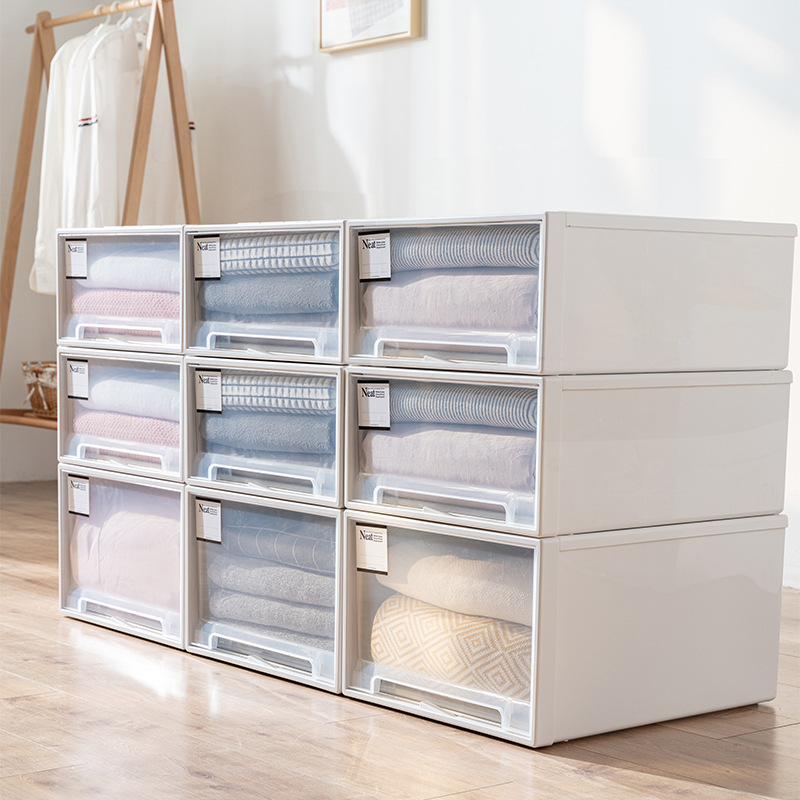 Storage box drawer storage box household wardrobe clothes storage box wardrobe clothes storage cabin