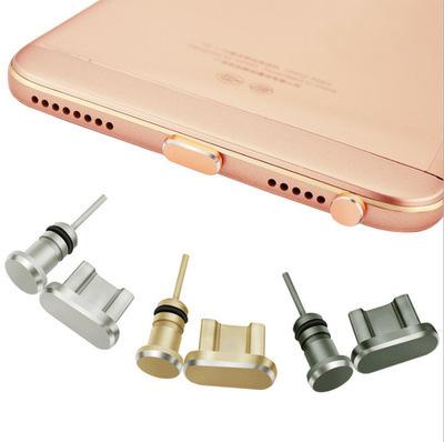 Nút cắm chống bụi Điện thoại di động Android bụi cắm pass bộ cắm tai nghe độ bóng cao Đầu cắm USB ki