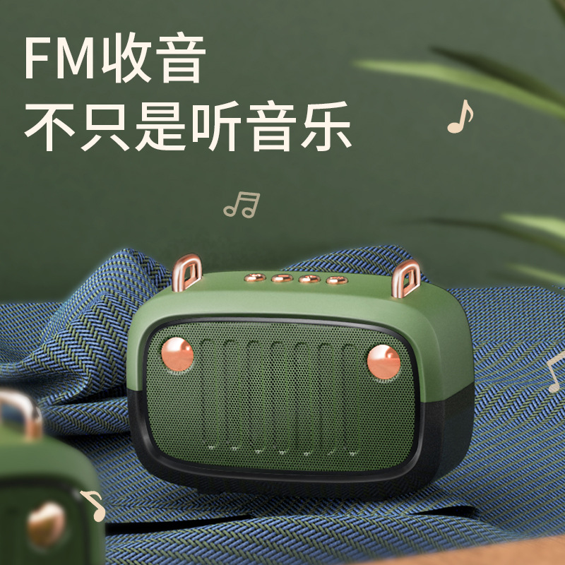 New private model BS32D wireless bluetooth speaker cartoon subwoofer outdoor card portable mini spea