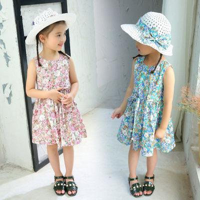 Cô gái váy cotton váy hè 2021 cô gái mới váy vest bé gái mùa hè váy công chúa hàn quốc váy trẻ em
