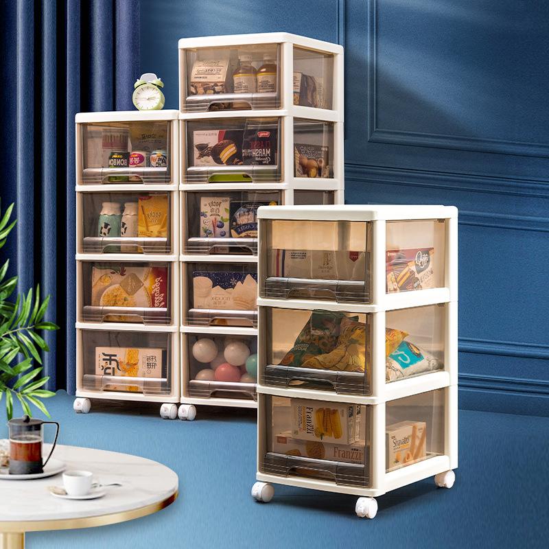 Drawer storage box plastic clothes closet toy storage box quilt cabinet storage snacks finishing sto