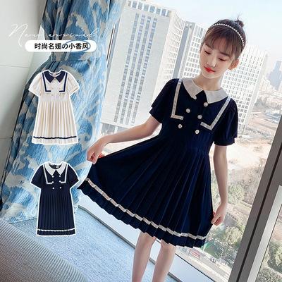 Phong cách đại học nữ sinh váy mùa hè 2021 váy trẻ em thời trang mới của Hàn Quốc váy xếp ly mùa hè