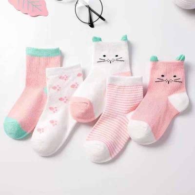 Bán buôn tất trẻ em mùa xuân và mùa thu phần mỏng ống thoáng khí cho nam và nữ em bé Hàn Quốc dễ thư