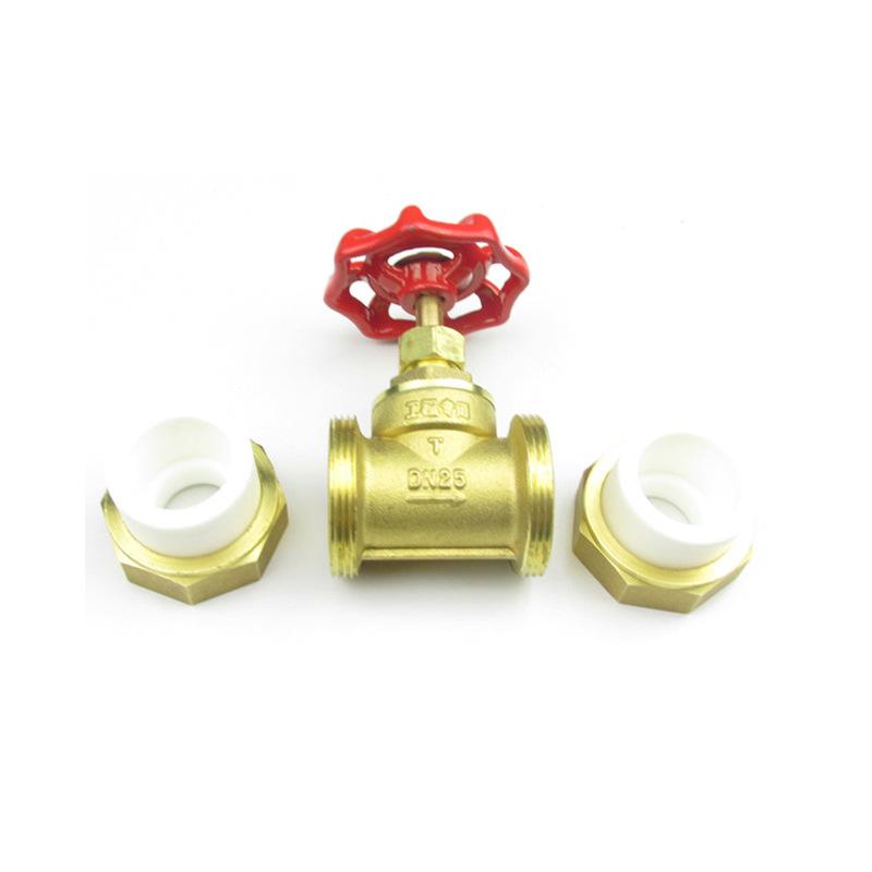 Brass PPR globe valve double union hot melt globe valve water pipe valve 4 points 6 points one inch