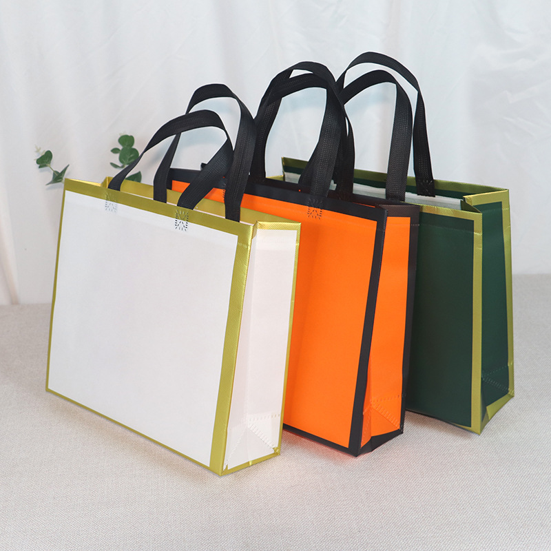 Non-woven tote bag custom shopping bag spot coated non-woven bag
