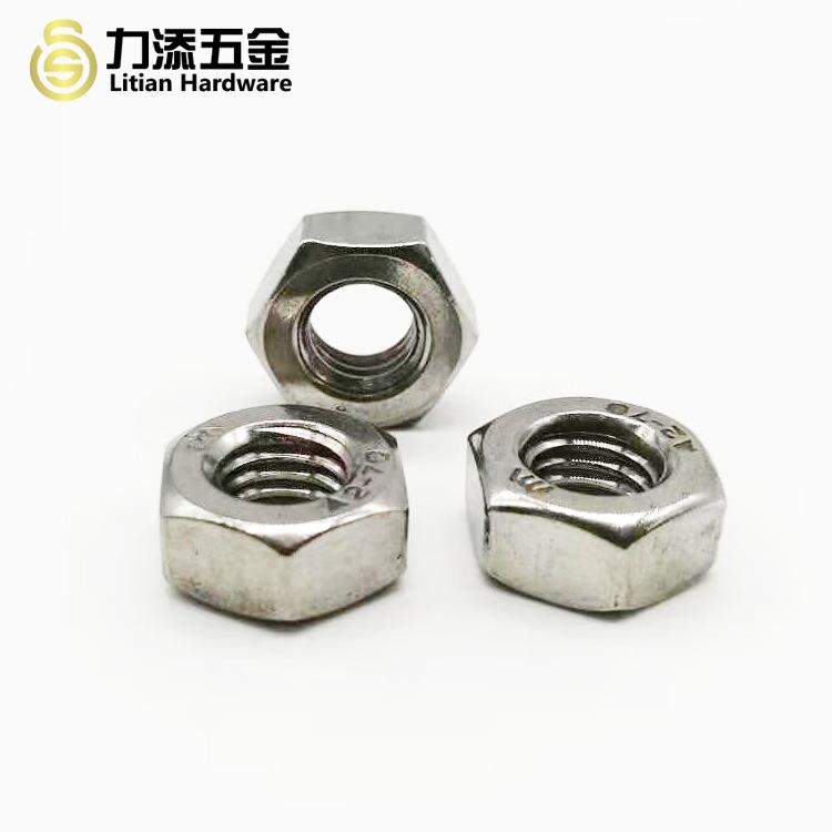 Hexagon Nut DIN934 Cap GB6170 Washed White Stainless Steel 304316 Fine Thread