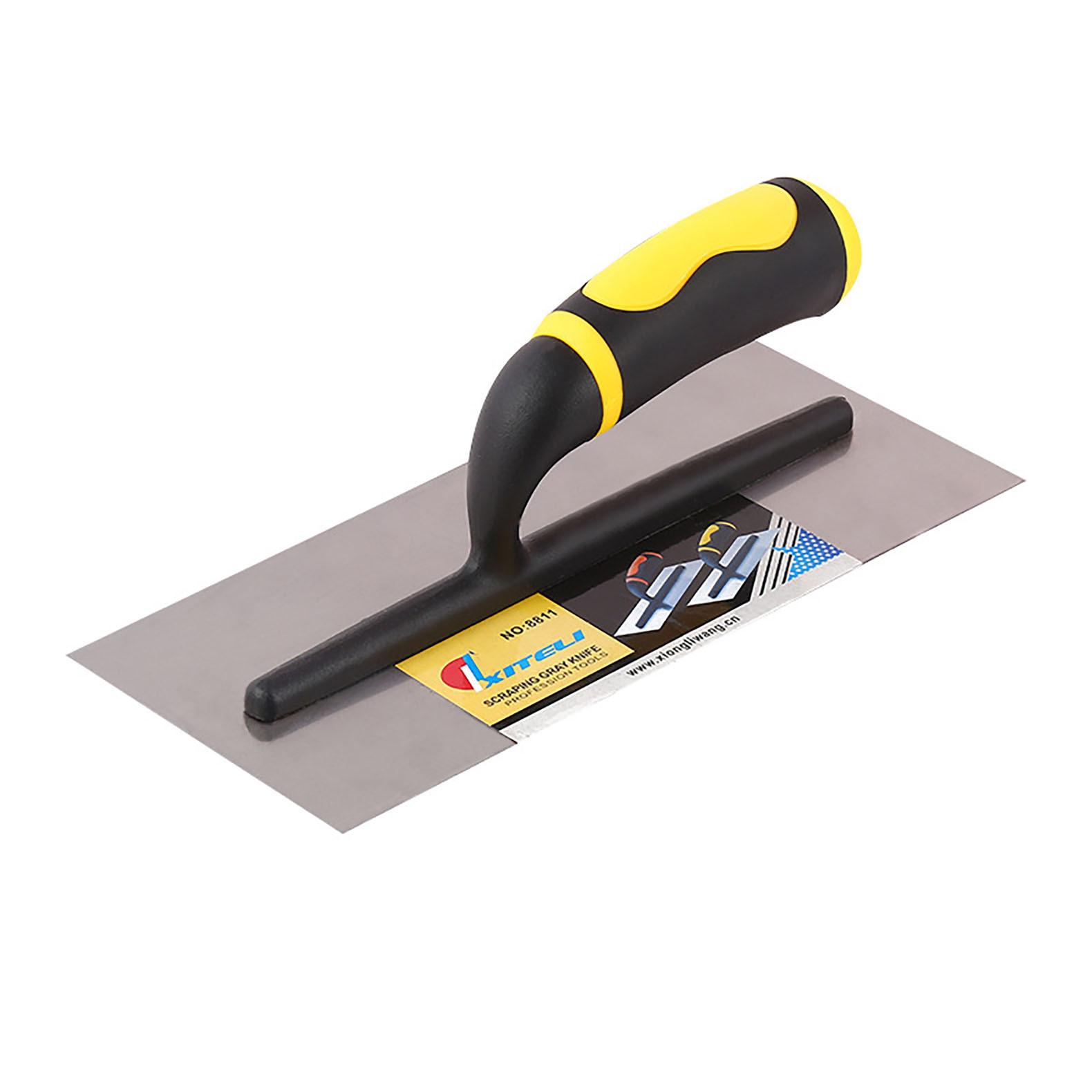 Decorating trowel steel square flat trowel plastic handle shovel trowel craftsman tool clay trowel s