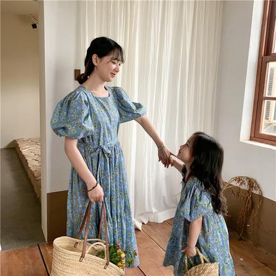 Cô gái phiên bản Hàn Quốc váy hoa rời cha mẹ trẻ em 2021 quần áo trẻ em mùa hè mới của trẻ em mẹ và