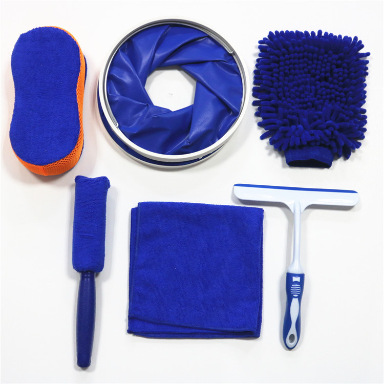 SIMAIER Household car wash cleaning kit 6-piece car wash set, car cleaning tools, car wash kit set